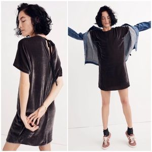 | Madewell | Velvet Bow Back Tee Shift Dress